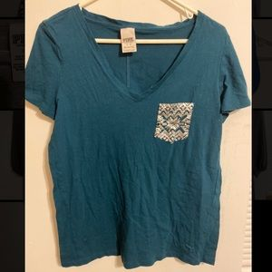 Victoria secret blue pocket tee